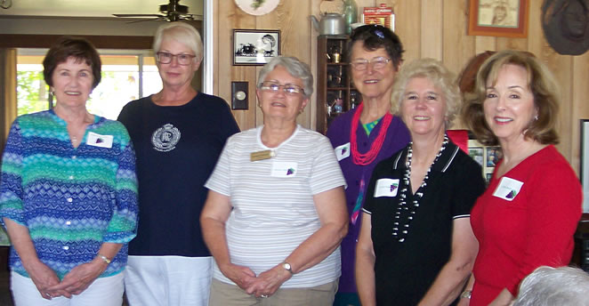 Slide: Officers: (l-r) Sharon Donaldson, Julie Stringham, Barbara Vineyard, Carole Kane, Jo Ann Cookman, Leslie MacMillan.