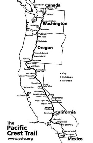 Map of PCT