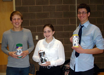 Colfax High School freshmen show their electric amplifiers