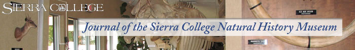 Journal of the Sierra College Natural History Museum