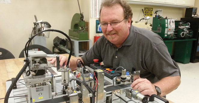 Slide: Tony Osladil, Mechatronics Professor