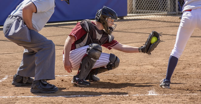 Slide: Sydni Scott behind the plate