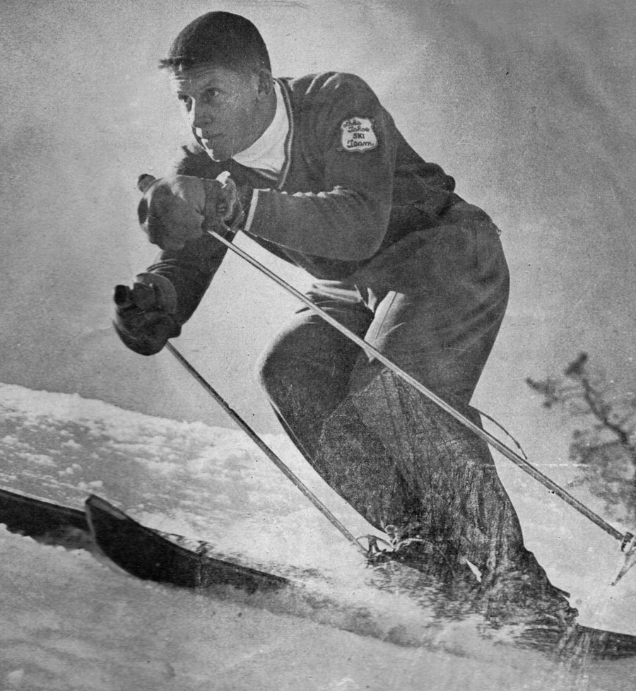 Lew Fellows, The Skier, March 1954