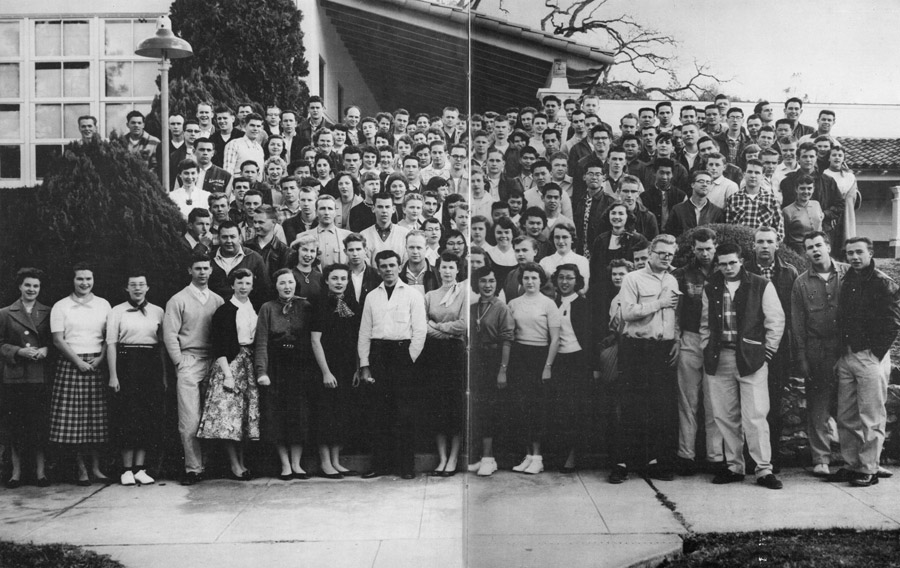 Barbara Vineyard and Frosh Class, 1956