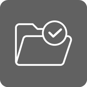 Enrollment Services icon of envelope or file