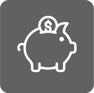 Financial Services icon of piggy bank