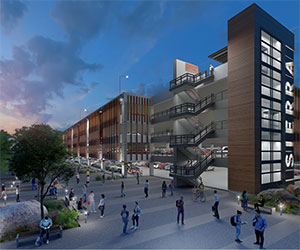 Parking structure rendering