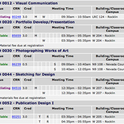 View Class Schedule